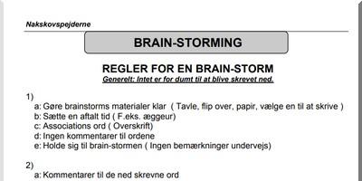 C brainstorm